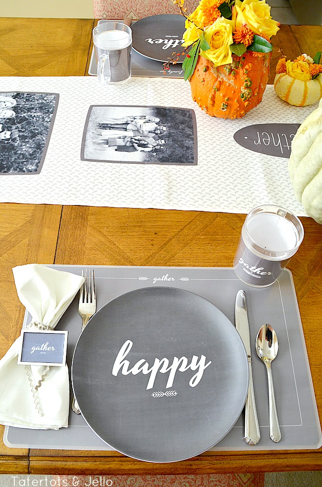 happy Thanksgiving free printables at tatertots and jello