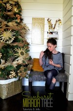 Holiday Decorating: My 2013 Sunburst Mirror Holiday Tree!