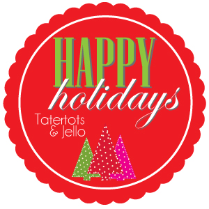 Happy Holidays projects and ideas featured on TatertotsAndJello.com
