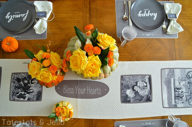 thanksgiving table free printables at tatertots and jello