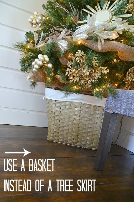 use a basket instead of a tree skirt