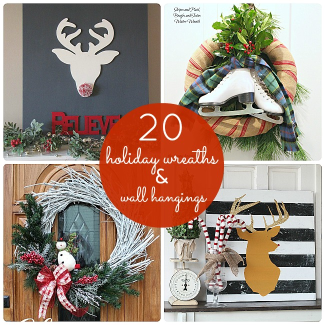 20 holiday wreaths and wall hangings