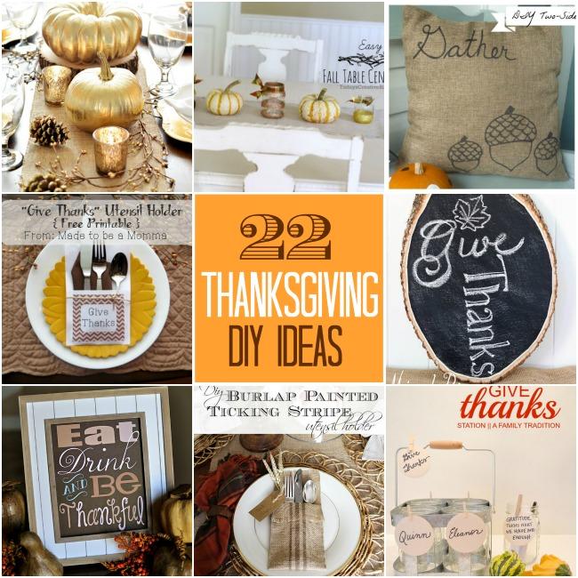 22 thanksgiving diy ideas