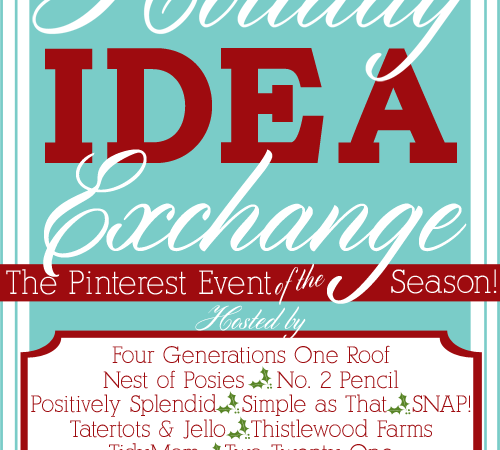 The Holiday Idea Exchange Pinterest Event — Tomorrow Night!!