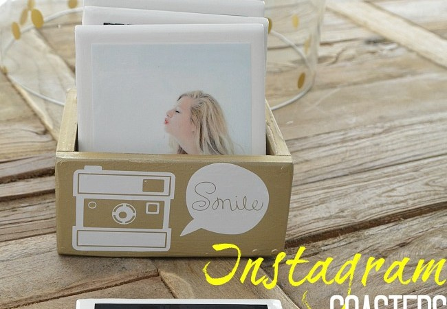 Gift Idea: DIY Instagram Coasters in Custom Box!