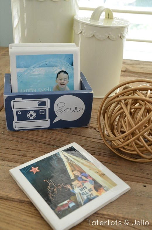 instagram coaster diy tutorial with wooden box at tatertots and jello