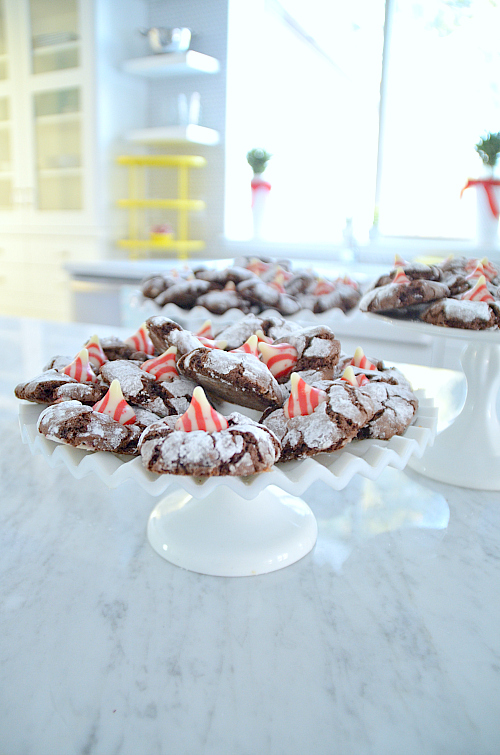 Christmas Peppermint Chocolate Crinkle Cookies