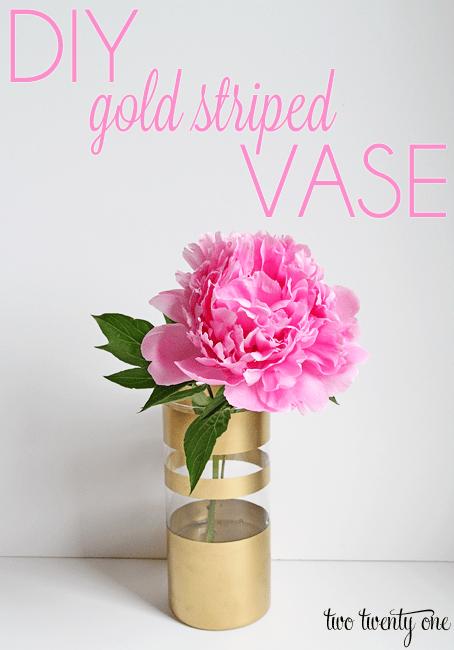 DIY-gold-striped-vase