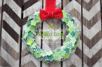 Happy Holidays: Printable Holly Leaf Wreath