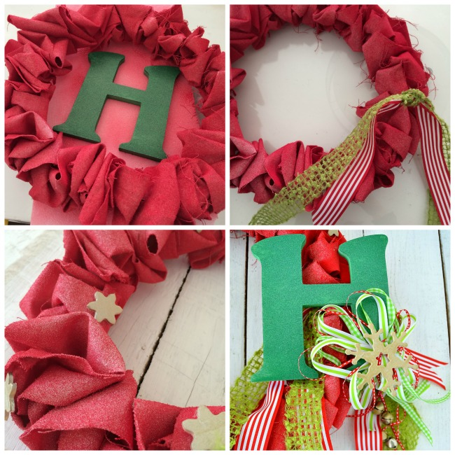 canvas ruffle wreath embellishments