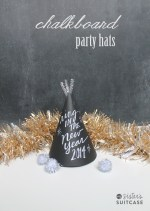 Happy Holidays: Chalkboard Party Hats
