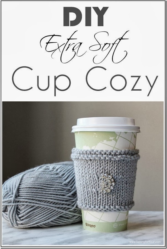 Great ideas 20 winter diy projects for Cup cozy pillow