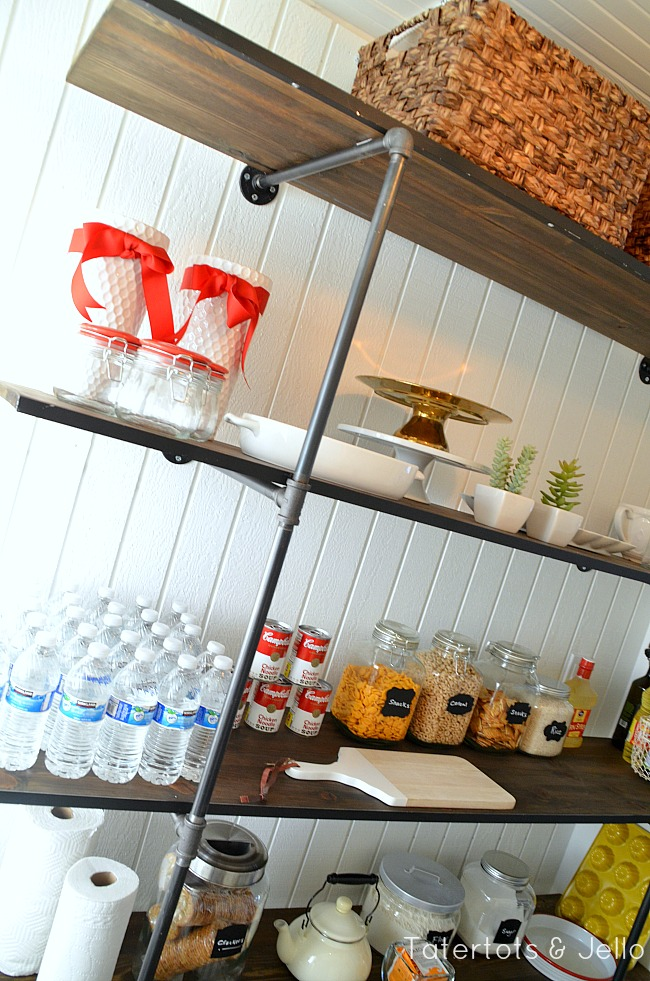 diy industrial pantry shelves
