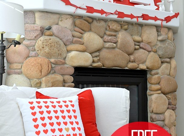 Valentine's Day Patterned Heart Printables #ShutterflyDecor