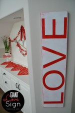 Make a Giant Valentine Typographic Sign for under $10!
