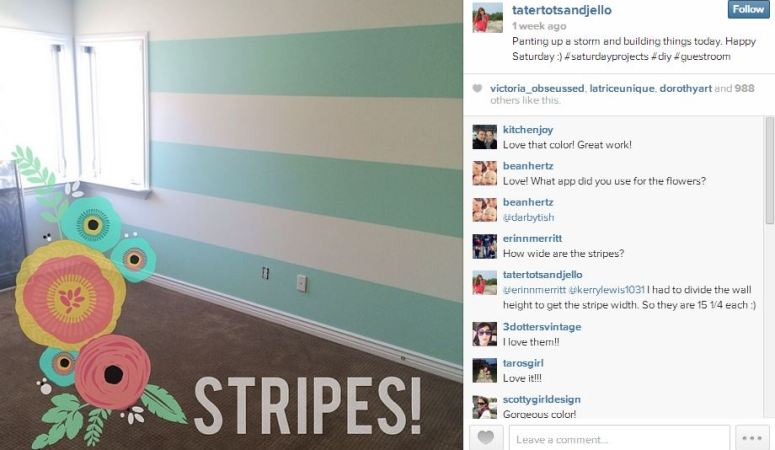 How to Paint Perfect Stripes in 5 Easy Steps, Plus a Valspar Paint Giveaway!