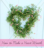 How To Make a Greenery Heart Wreath
