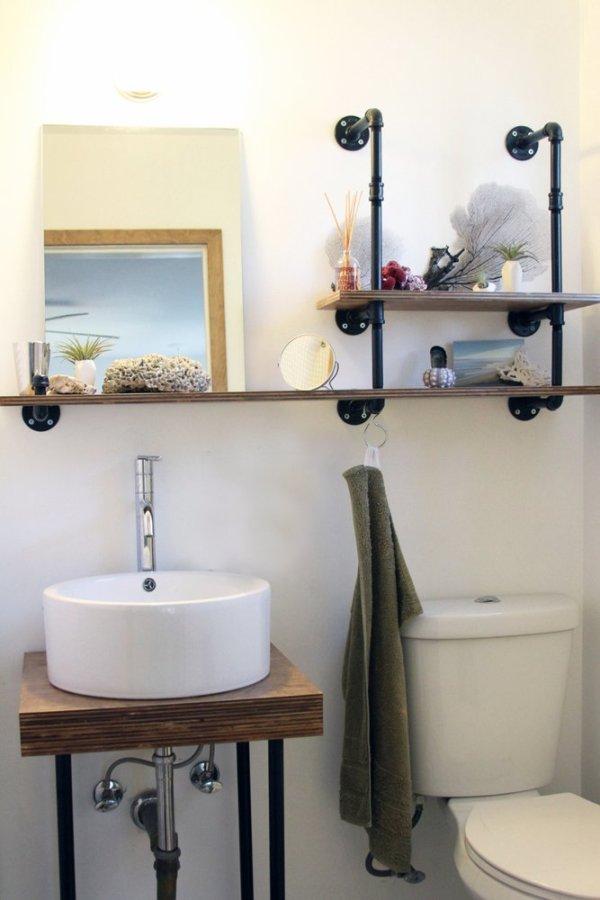 industrial bathroom storage