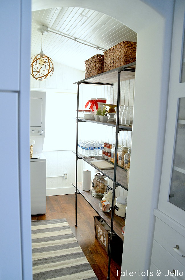 industrial shelving pantry diy