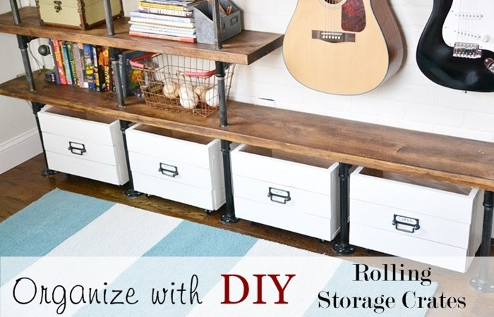 DIY Rolling Storage Crates Organization!