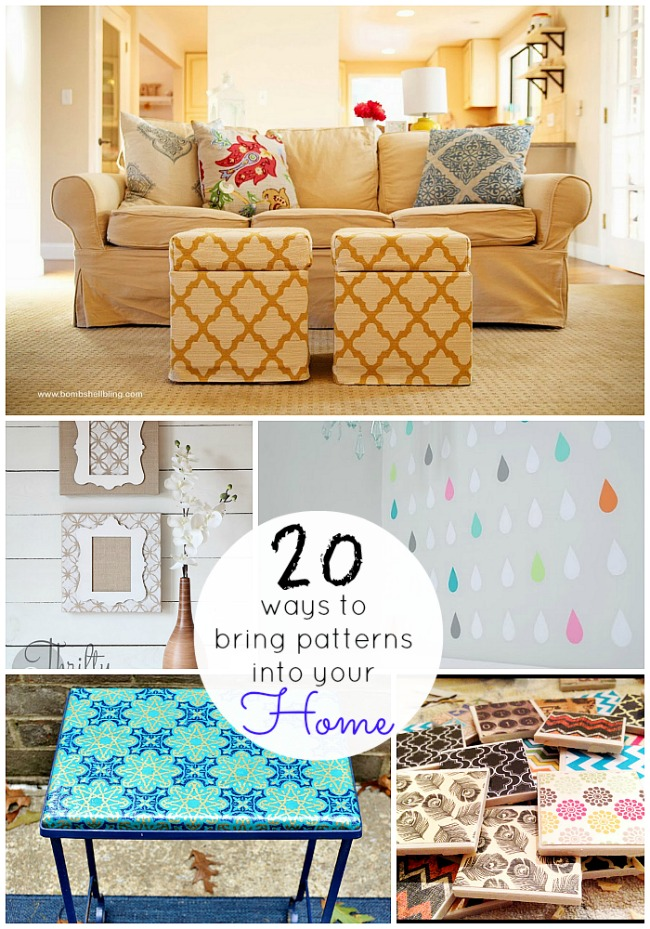 20 ways to bring patterns into your home