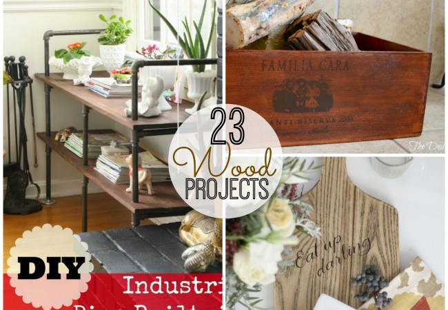 Great Ideas — 23 DIY Wood Projects!!