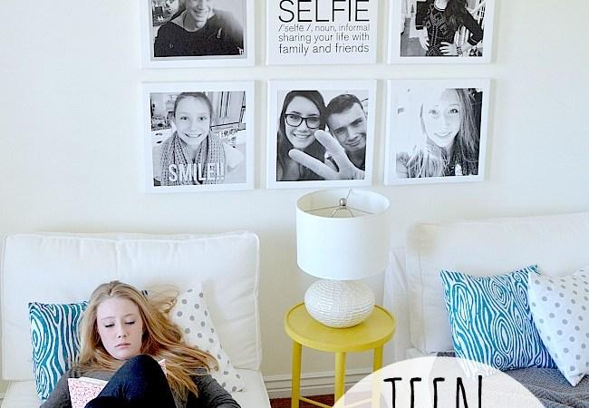 Tween/Teen Hangout Room: Free Printable & Canvas Portrait Wall #ShutterflyDecor