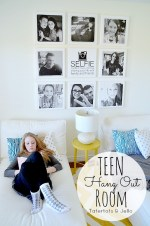 Tween/Teen Hangout Room: Free Printable & Canvas Portrait Wall #ShutterflyDecor