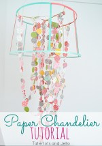 Paper and Ribbon Chandelier Tutorial!