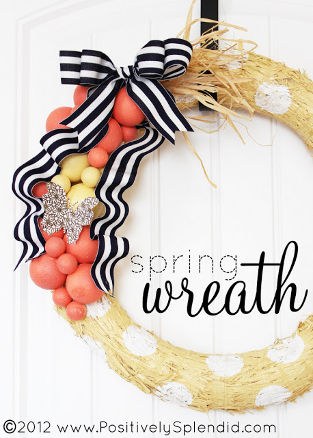 spring wreath title