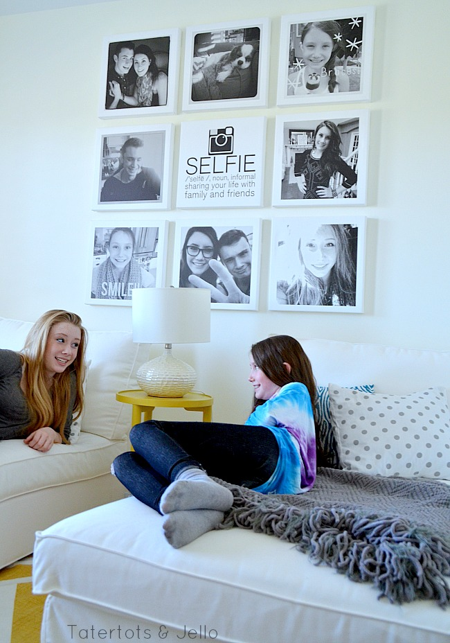 Selfie Tween/Teen Instagram Hangout Wall DIY