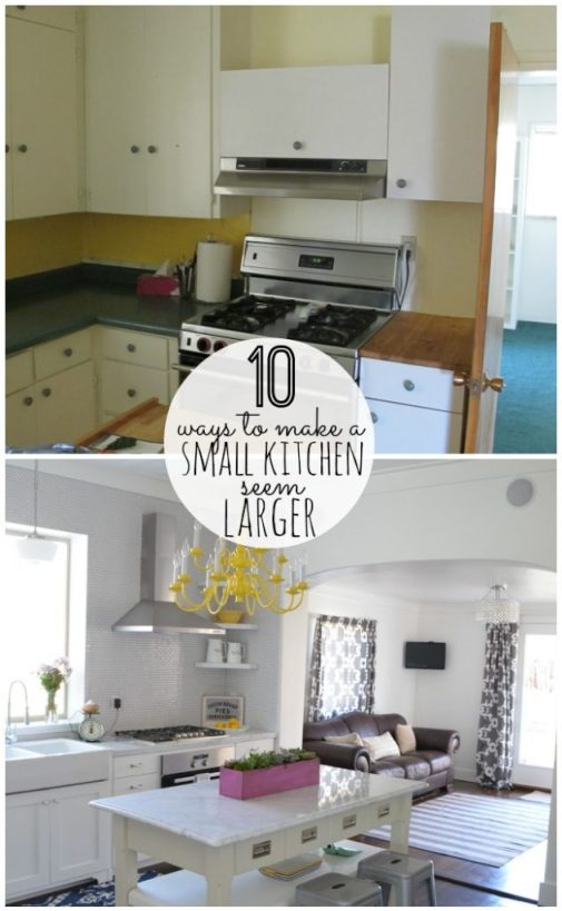 10 ways to make a small kitchen seem larger at tatertots and jello