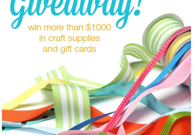 Win the Ultimate Craft Room Giveaway ($1,000 value)!!