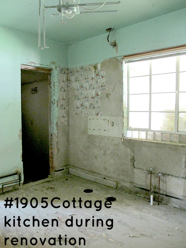 cottage during renovation