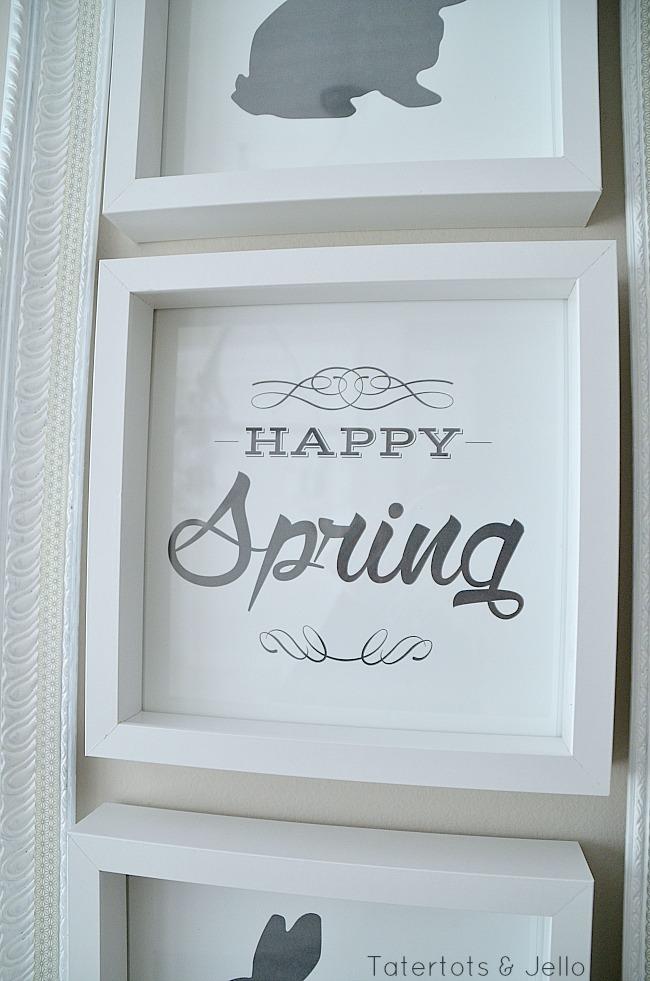 spring bunny printables at tatertots and jello