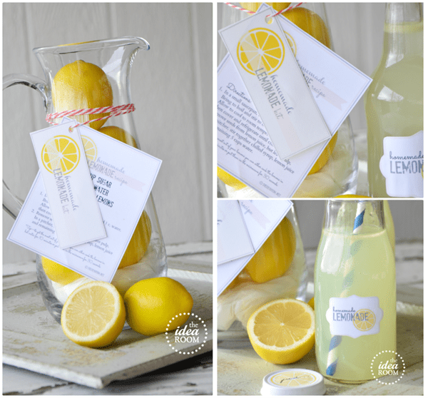 spring lemonade printables