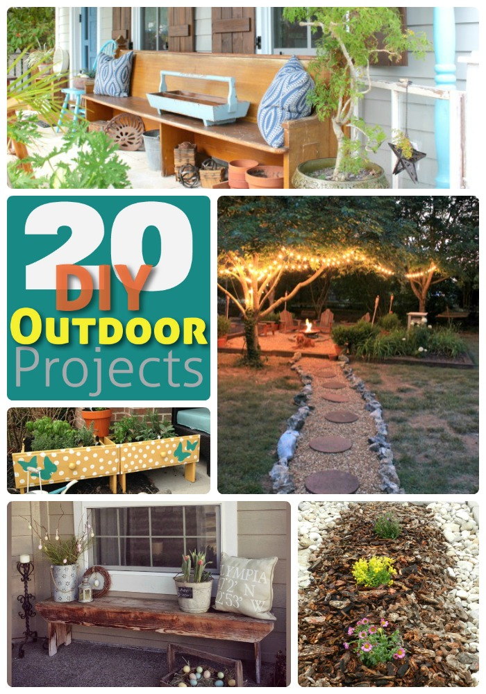 20 diy outdoor projects - collage