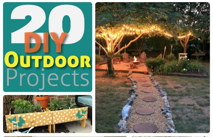 Great Ideas — 20 Outdoor DIY Projects!