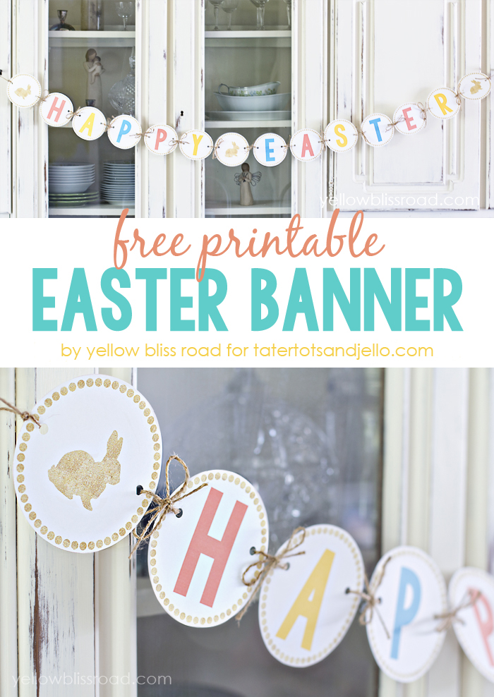 photo relating to Easter Banner Printable titled Cost-free Printable Joyful Easter Banner!!