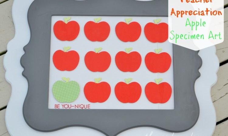 Teacher Appreciation Apple Specimen Art