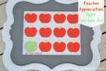 Teacher Appreciation Apple Specimen Art