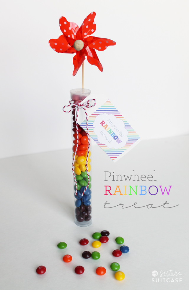 pinwheel rainbow treat