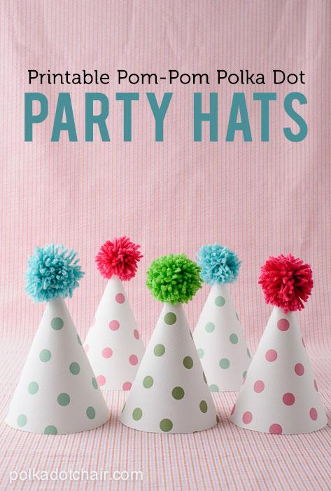 printable-pom-pom-polka-dot-party-hats