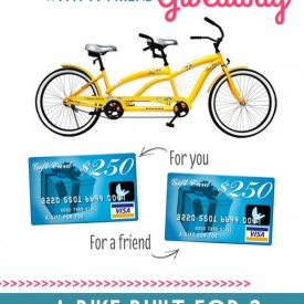 Win VISA Gift Cards for You and a Friend — Plus a Bicycle Built for Two!