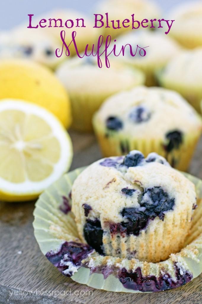 Lemon Blueberry Muffins title