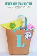 Monogram Teacher Tote Gift Idea!!