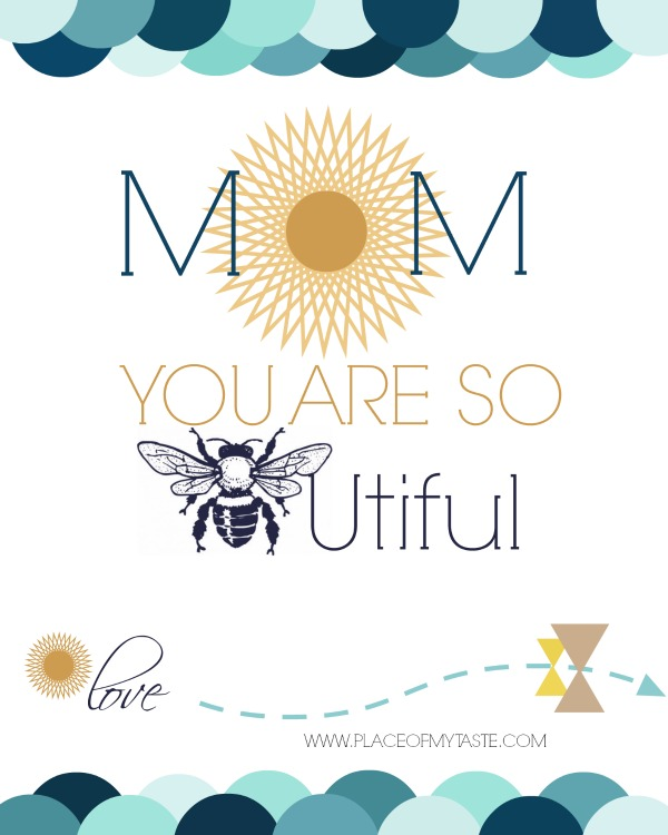 mom you are so beautiful printable