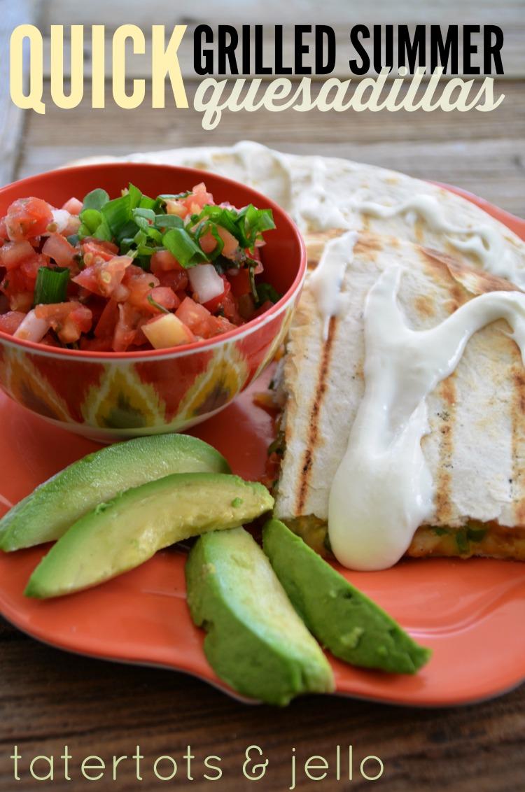 Quick Grilled Quesadillas