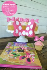 Minnie Mouse 3-D Printable Bows & Cupcake Toppers! #MinnieInParis