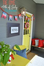 Tie Dye Fourth of July Pennant and a Tie Dye Linky Party!